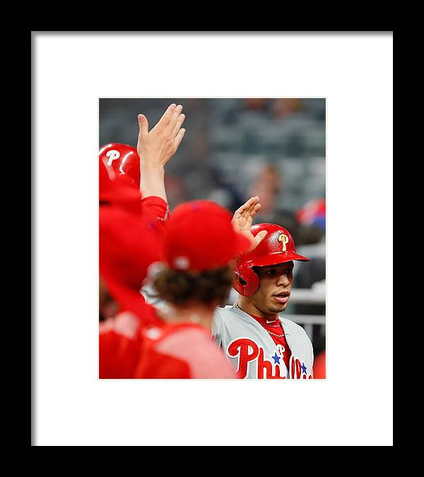Atlanta Framed Print featuring the photograph Philadelphia Phillies v Atlanta Braves by Kevin C. Cox