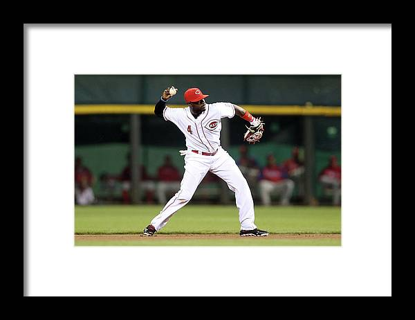 Great American Ball Park Framed Print featuring the photograph Philadelphia Phillies V Cincinnati Reds by Andy Lyons