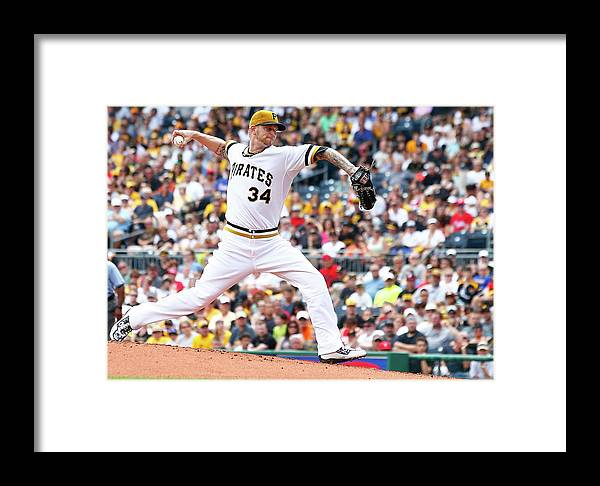 People Framed Print featuring the photograph Philadelphia Phillies V Pittsburgh by Jared Wickerham