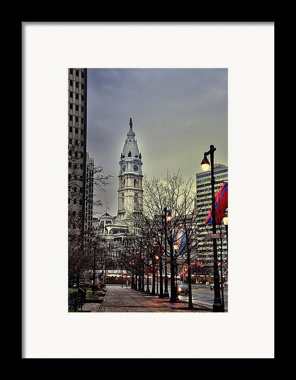 Philadelphia's Iconic City Hall Framed Print featuring the photograph Philadelphia's Iconic City Hall by Bill Cannon