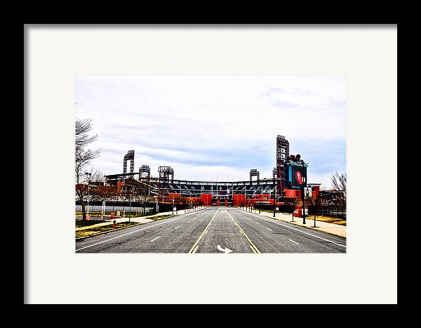 Phillies Stadium - Citizens Bank Park Framed Print featuring the photograph Phillies Stadium - Citizens Bank Park by Bill Cannon