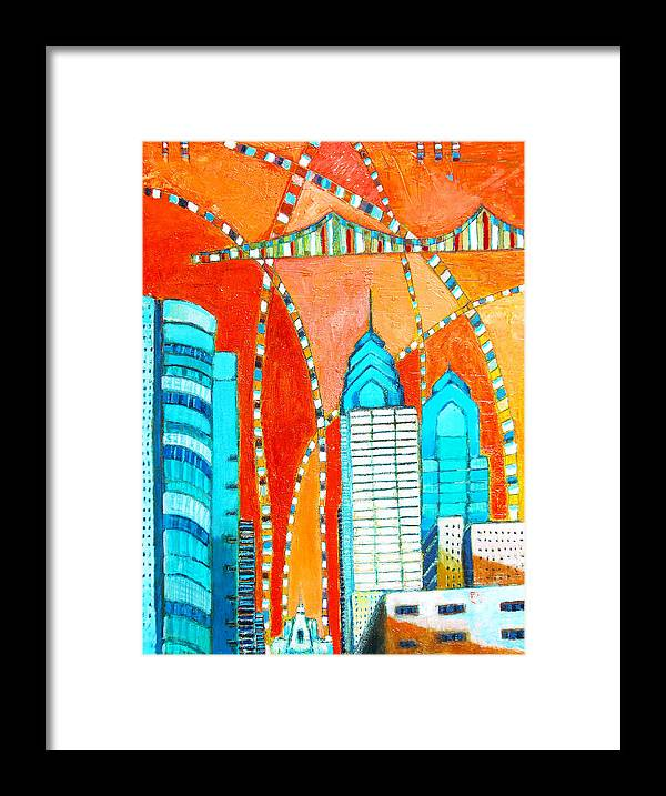 Philadelphia Art Print Framed Print featuring the painting Phillyscape 1 by Habib Ayat