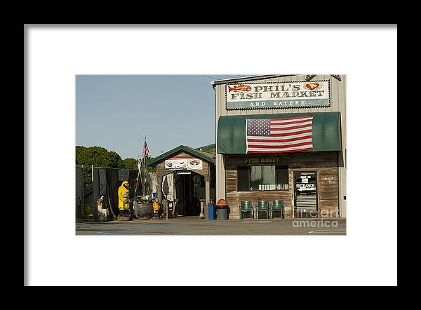 Phils Fish Market Moss Landing Framed Print featuring the photograph Phils Fish Market Moss Landing by Artist and Photographer Laura Wrede