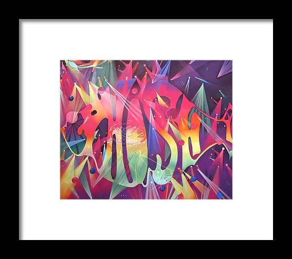 Phish Framed Print featuring the drawing Phish The Mother Ship by Joshua Morton