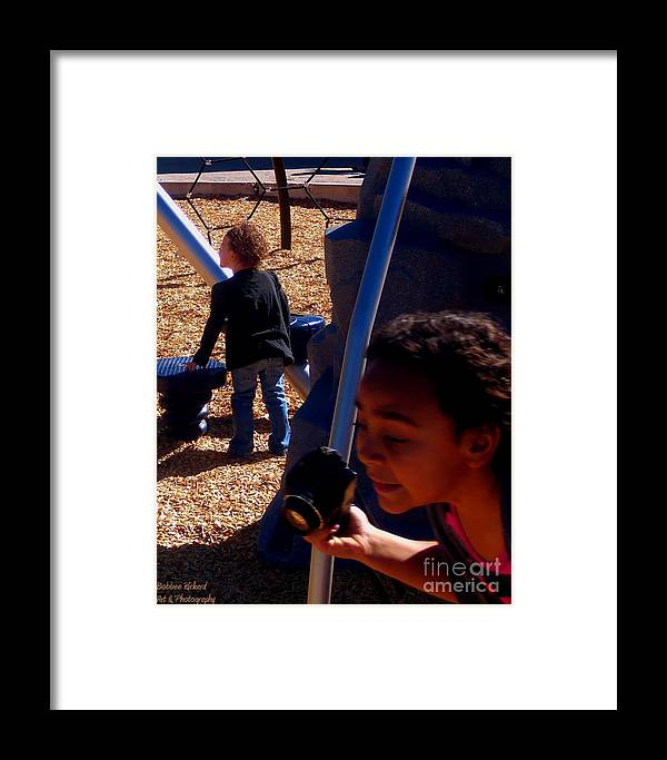 Acrylic Prints Framed Print featuring the photograph Photgrapher In Action by Bobbee Rickard