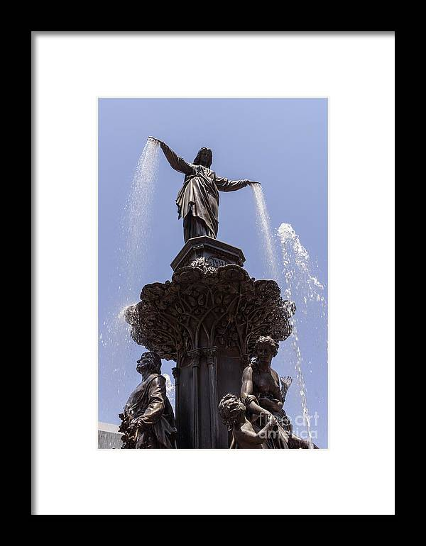 2012 Framed Print featuring the photograph Photo Of Tyler Davidson Fountain In Cincinnati Ohio by Paul Velgos