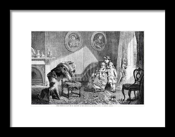 1864 Framed Print featuring the painting Photographer, 1864 by Granger