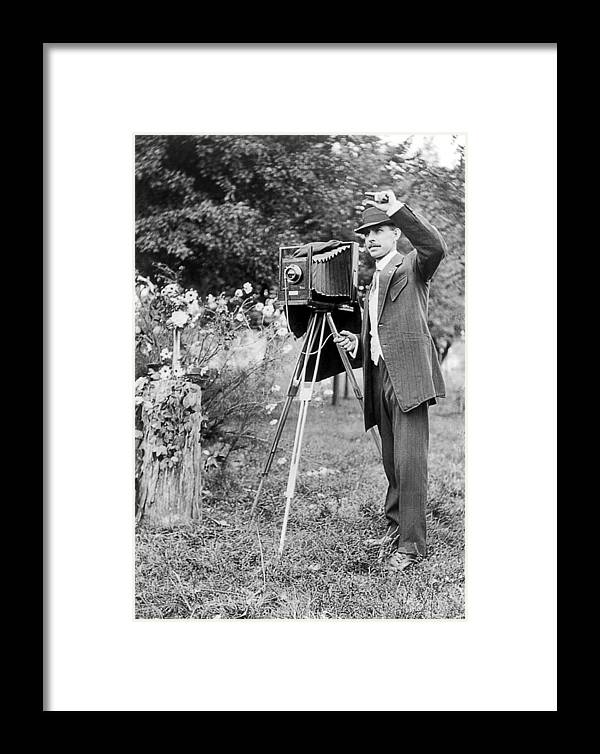 1911 Framed Print featuring the photograph Photographer, C1911 by Granger