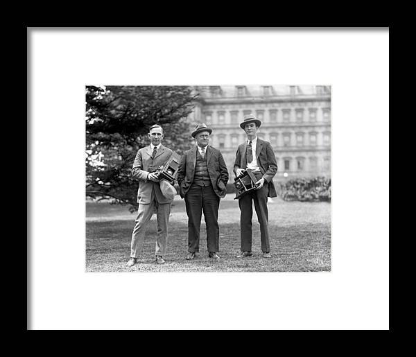 1915 Framed Print featuring the photograph Photographers, C1915 by Granger