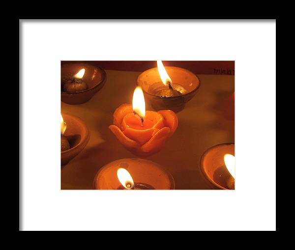 Indian Diya Framed Print featuring the pyrography Photography by Aanchal Verma