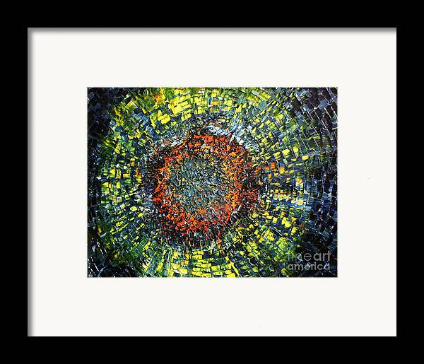 Supernova Framed Print featuring the painting Physiological Supernova by Michael Kulick