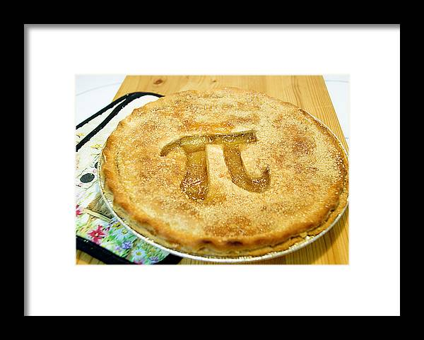 Wood Framed Print featuring the photograph 'Pi' Pie by Perry Gerenday