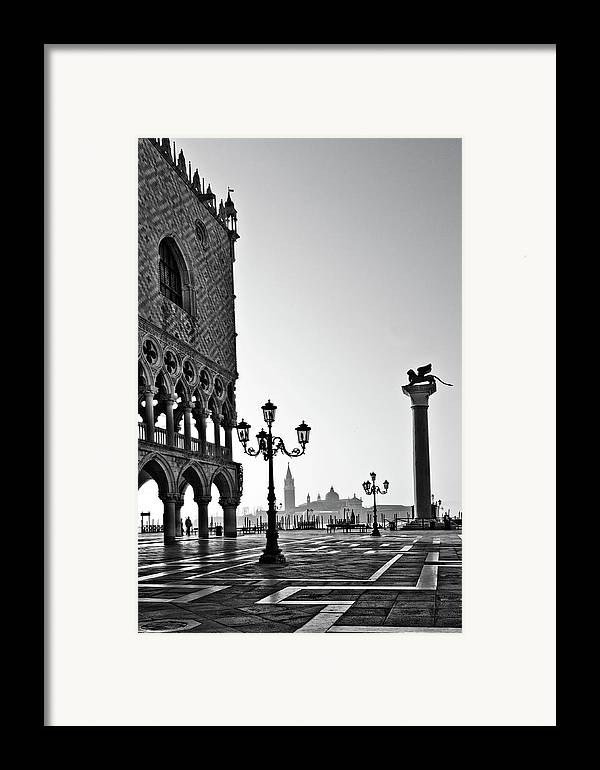 Italy Framed Print featuring the photograph Piazza San Marco by Marion Galt