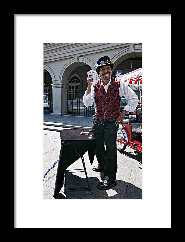 French Quarter Framed Print featuring the photograph Pick A Card...any Card by Steve Harrington