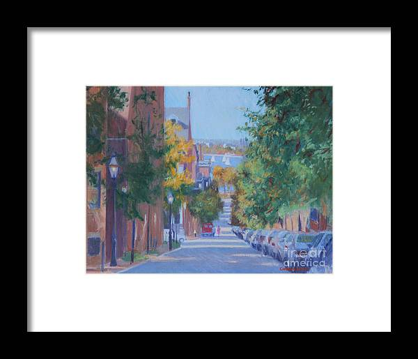 Pickney Street Fall Framed Print featuring the painting Pickney Street Fall by Candace Lovely