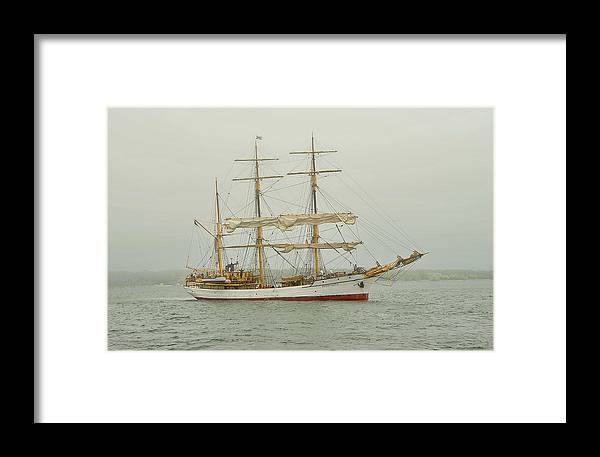 Tall Ship Framed Print featuring the photograph Picton Castle Starboard by Tony Ambrosio