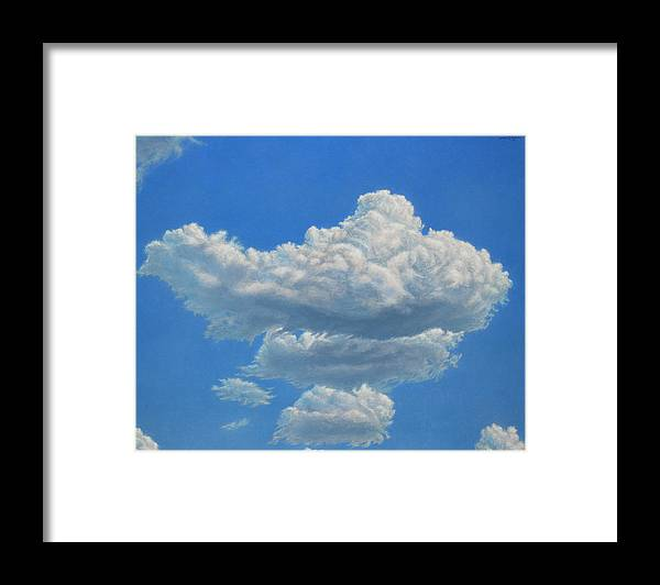 Sky Framed Print featuring the painting Piece Of Sky 3 by James W Johnson