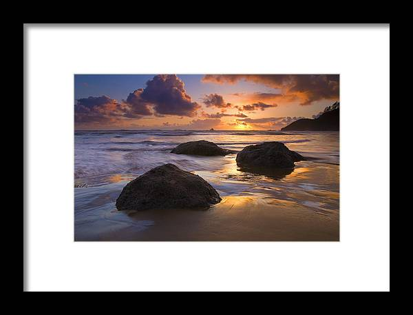Sunset Framed Print featuring the photograph Pieces Of Eight by Mike Dawson