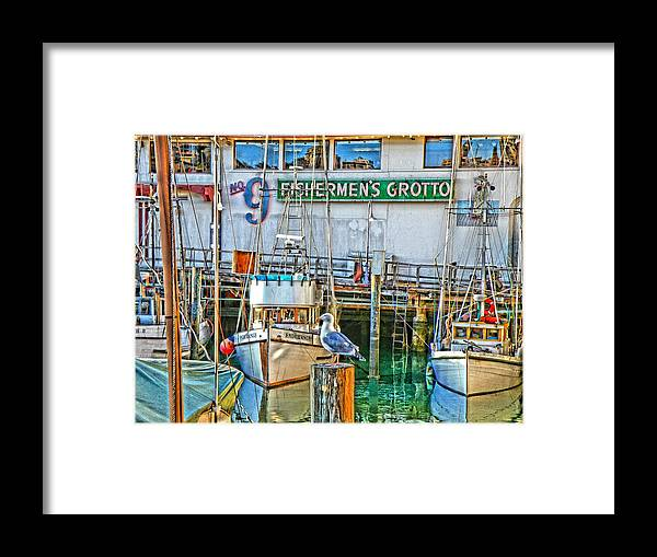 Hdr Framed Print featuring the photograph Pier 39 by Bob Kinnison