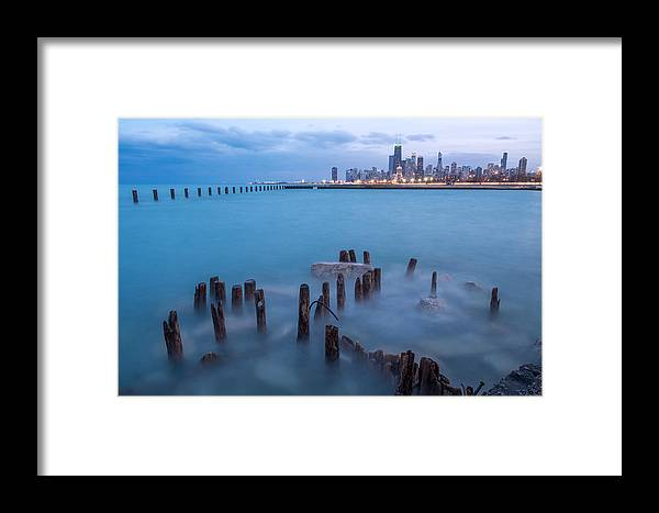 Landscape Framed Print featuring the photograph Pier by Arkadiusz Ziomek