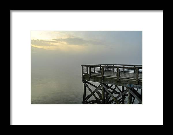 Nature Framed Print featuring the photograph Pier In The Fog by AE Jones