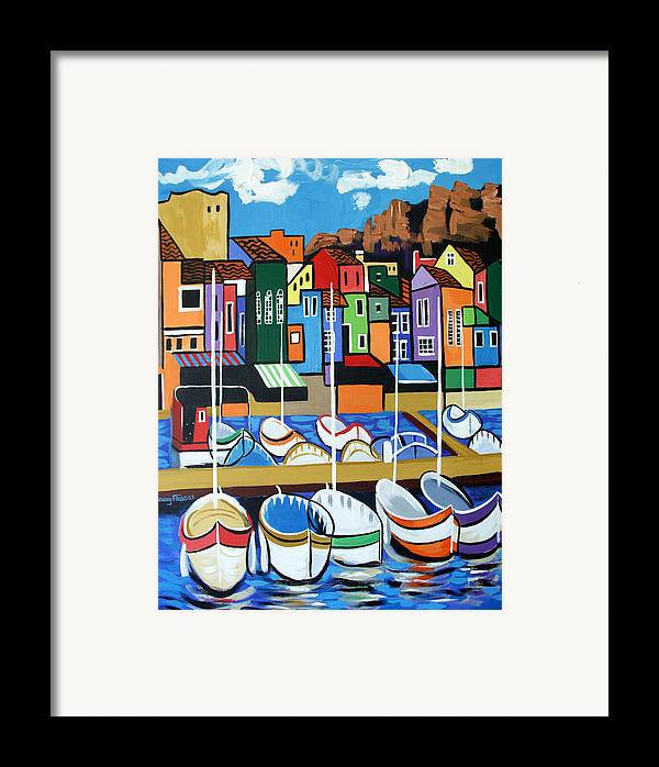 Pier One Framed Print featuring the painting Pier One by Anthony Falbo