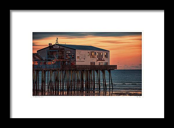Architecture Framed Print featuring the photograph Pier Patio by Richard Bean