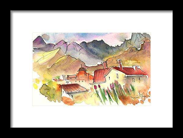 Travel Framed Print featuring the painting Pietrasanta In Italy 04 by Miki De Goodaboom