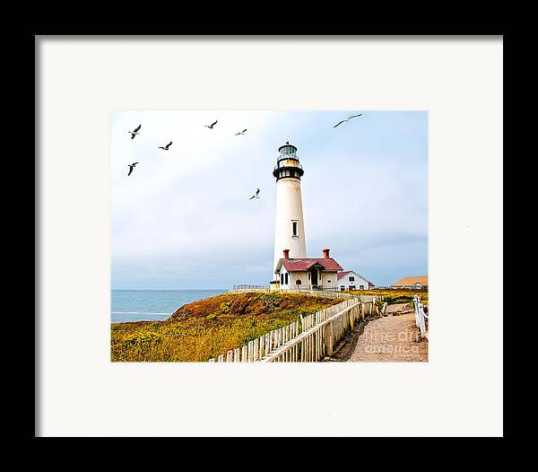 Pigeon Point Lighthouse Framed Print featuring the photograph Pigeon Point Lighthouse by Artist and Photographer Laura Wrede