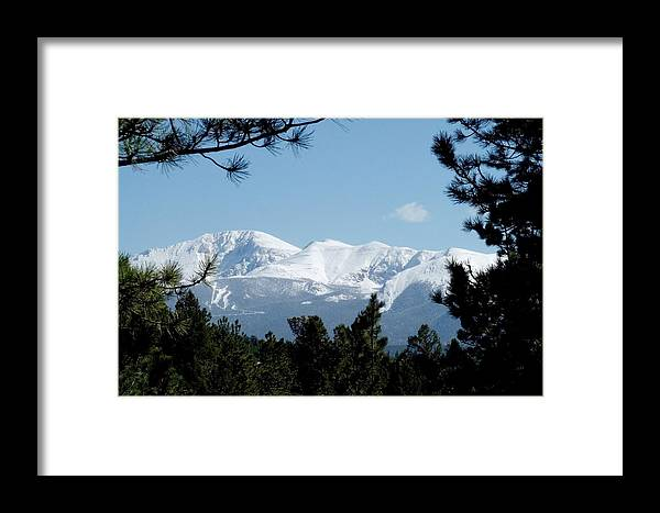 Colorado Framed Print featuring the photograph Pikes Peak After A Snowstorm by Marilyn Burton