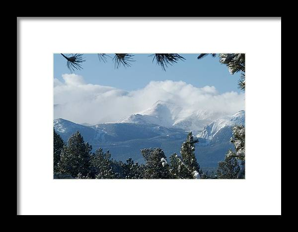 Colorado Framed Print featuring the photograph Pikes Peak Under The Clouds by Marilyn Burton