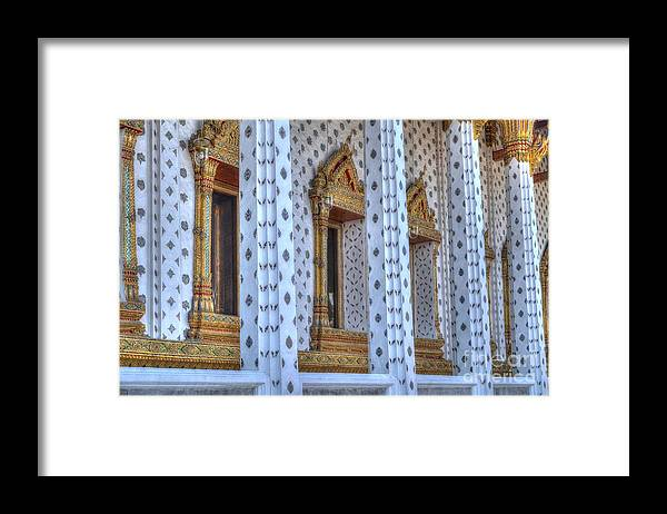 Michelle Meenawong Framed Print featuring the photograph Pillars by Michelle Meenawong