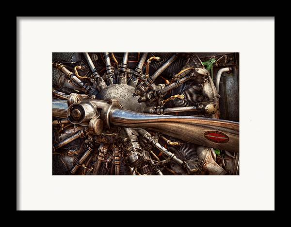 Plane Framed Print featuring the photograph Pilot - Plane - Engines At The Ready by Mike Savad