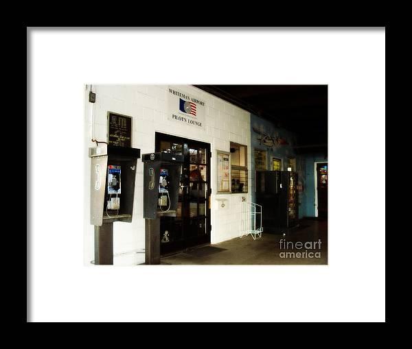 Pilot's Lounge Framed Print featuring the photograph Pilot's Lounge by De La Rosa Concert Photography