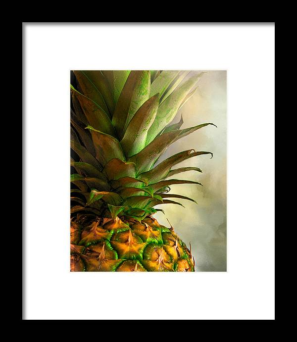 Eat Framed Print featuring the photograph Pineapple II by David and Carol Kelly