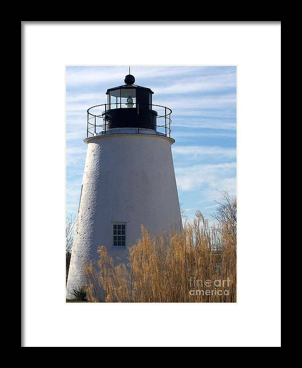 Lighthouse Framed Print featuring the photograph Piney Point Lighthouse by Bren Thompson
