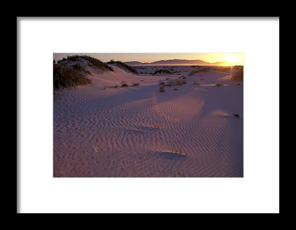 White Sand Framed Print featuring the photograph Ping Sand by Christian Heeb