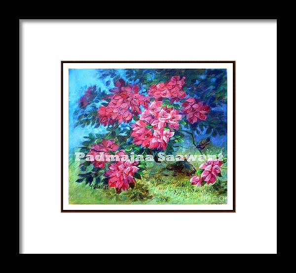 Framed Print featuring the painting Pink Afternoon by Nalini Sawant
