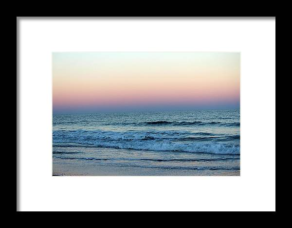 Colorful Framed Print featuring the photograph Pink And Blue Sky by Cynthia Guinn