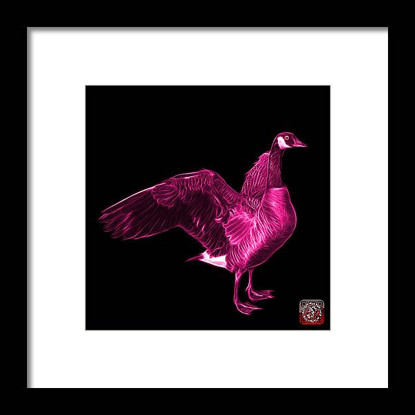 Canada Goose Framed Print featuring the mixed media Pink Canada Goose Pop Art - 7585 - Bb by James Ahn