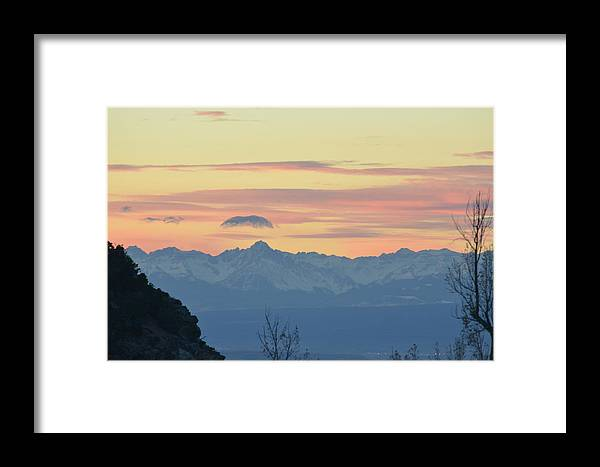 Mountains Framed Print featuring the photograph Pink Mountains by Dorothea Hanson