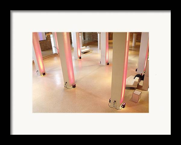 Chicago Framed Print featuring the photograph Pink Pillars I by Anna Villarreal Garbis