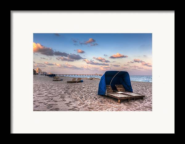 Deerfield Framed Print featuring the photograph Pink Sands by Debra and Dave Vanderlaan