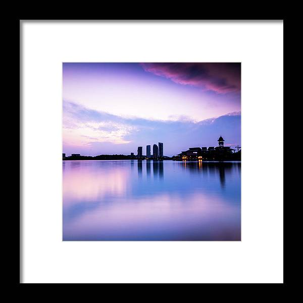 Tranquility Framed Print featuring the photograph Pink Sunrise by Azirull Amin Aripin