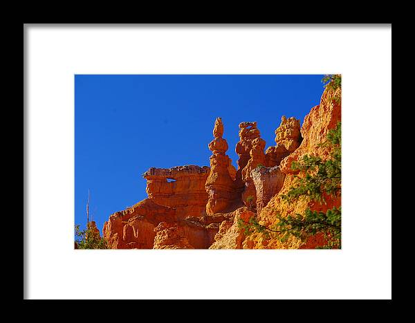Pinnacles Framed Print featuring the photograph Pinnacles Of Red Rock by Jeff Swan