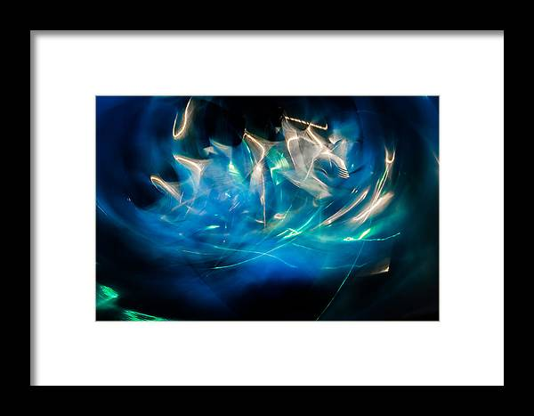 Pinwheel Framed Print featuring the photograph Pinwheel Dark Chaos by Michael Arend