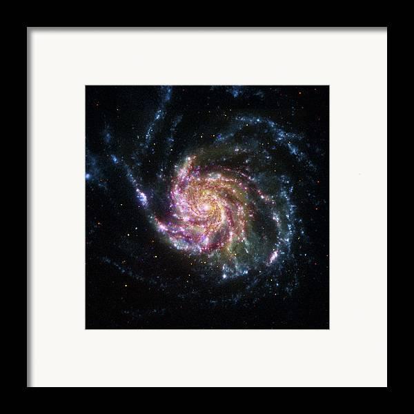 3scape Photos Framed Print featuring the photograph Pinwheel Galaxy Rainbow by Adam Romanowicz
