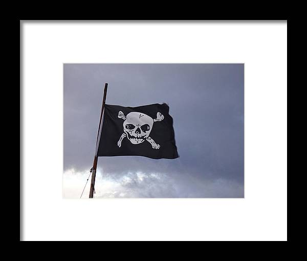 Flag Framed Print featuring the photograph Pirate Flag by Digby Merry