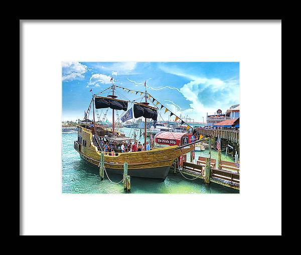 Pirate Ship Framed Print featuring the photograph Pirate Ship by Stephen Warren