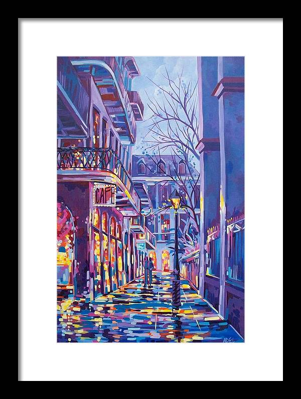Pirates Alley Winter New Orleans by Elaine Adel Cummins